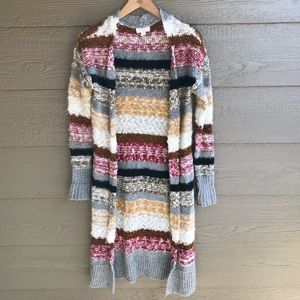 Sun & Shadow knitted multi colored body cardigan